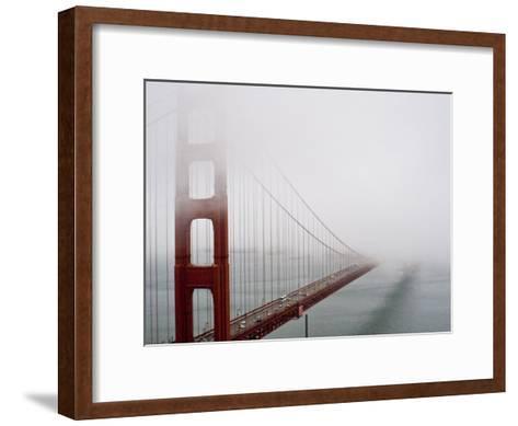 Fog Surrounds the Golden Gate Bridge Early in the Morning-Hannele Lahti-Framed Art Print