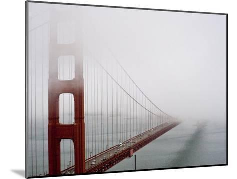Fog Surrounds the Golden Gate Bridge Early in the Morning-Hannele Lahti-Mounted Photographic Print