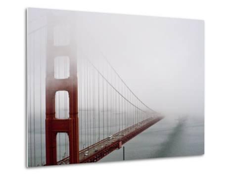 Fog Surrounds the Golden Gate Bridge Early in the Morning-Hannele Lahti-Metal Print