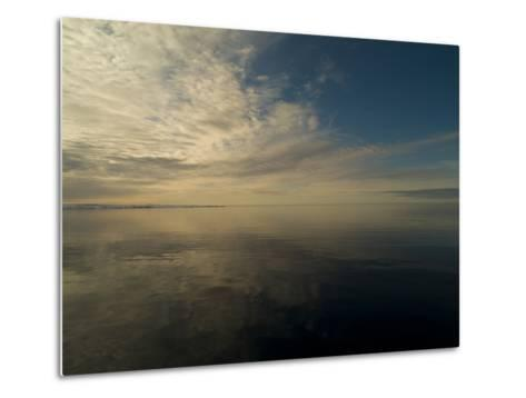 Serene View of Still Water under the Arctic Sky-Norbert Rosing-Metal Print