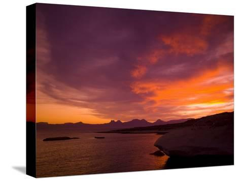 Summer Sunset over the Sea of Cortez-Ralph Lee Hopkins-Stretched Canvas Print