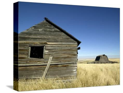 Abandoned Farmstead in Southern Alberta-Pete Ryan-Stretched Canvas Print