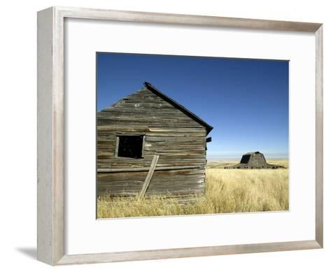 Abandoned Farmstead in Southern Alberta-Pete Ryan-Framed Art Print
