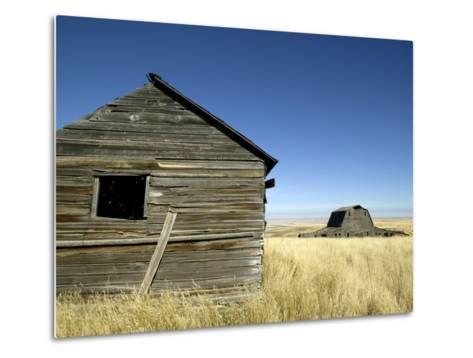 Abandoned Farmstead in Southern Alberta-Pete Ryan-Metal Print