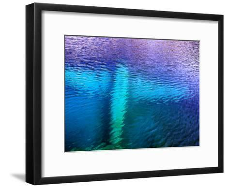 Underwater Wreckage of a Small Plane-Pete Ryan-Framed Art Print