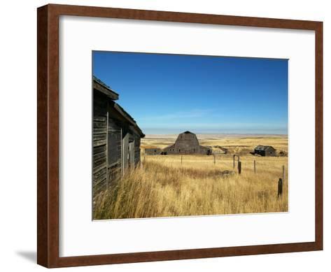 Abandoned Farm in Canada's Prairies-Pete Ryan-Framed Art Print