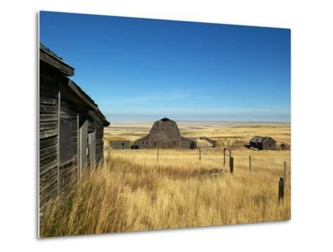 Abandoned Farm in Canada's Prairies-Pete Ryan-Metal Print