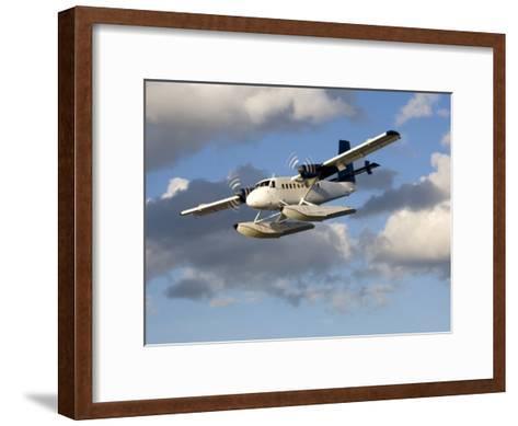 Sea Plane Flies Amid the Clouds-Pete Ryan-Framed Art Print