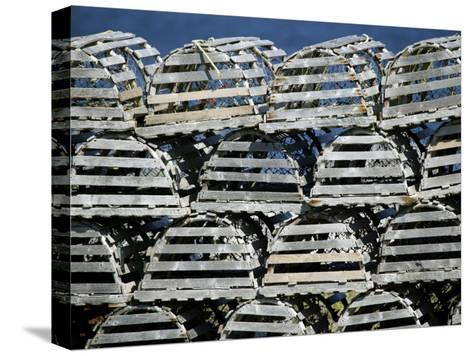 Stacks of Lobster Pots-Pete Ryan-Stretched Canvas Print