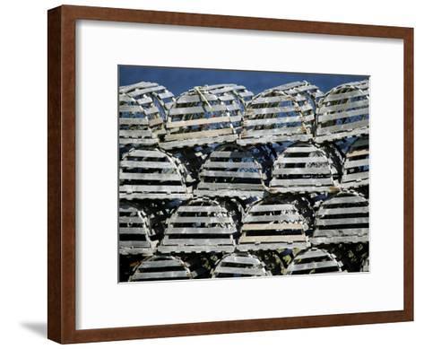 Stacks of Lobster Pots-Pete Ryan-Framed Art Print