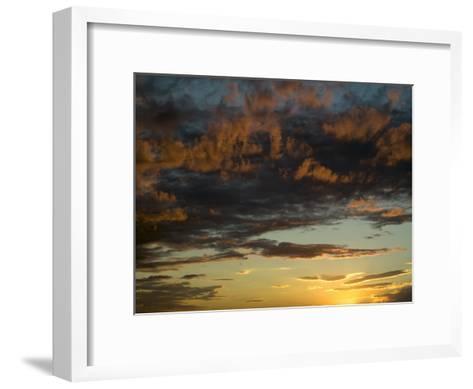 Sunset Prairie Skies over the Big Muddy Badlands-Pete Ryan-Framed Art Print