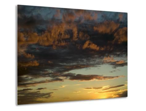 Sunset Prairie Skies over the Big Muddy Badlands-Pete Ryan-Metal Print