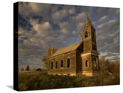 Photo of Abandoned Glucksdahl Lutheran Church-Phil Schermeister-Stretched Canvas Print