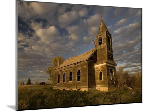 Photo of Abandoned Glucksdahl Lutheran Church-Phil Schermeister-Mounted Photographic Print