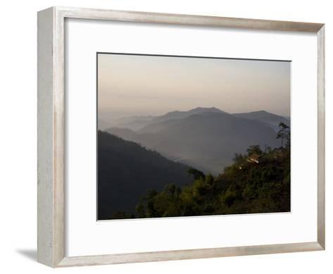 Lahu Tribe Outpost in Mountainous Northern Thailand-Rebecca Hale-Framed Art Print