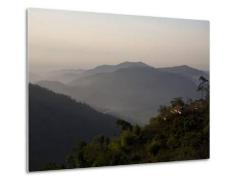 Lahu Tribe Outpost in Mountainous Northern Thailand-Rebecca Hale-Metal Print