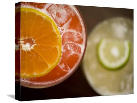 Refreshing Orange and Lime Cocktails-Rebecca Hale-Stretched Canvas Print