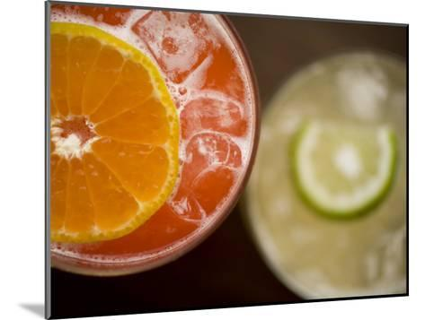 Refreshing Orange and Lime Cocktails-Rebecca Hale-Mounted Photographic Print