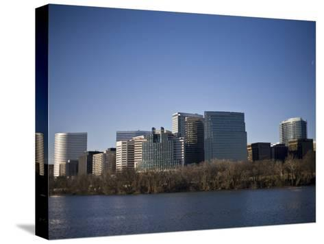 Skyline of Rosslyn in Arlington County, Virginia in the Morning-Hannele Lahti-Stretched Canvas Print