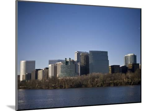 Skyline of Rosslyn in Arlington County, Virginia in the Morning-Hannele Lahti-Mounted Photographic Print