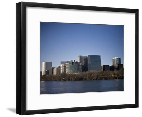 Skyline of Rosslyn in Arlington County, Virginia in the Morning-Hannele Lahti-Framed Art Print