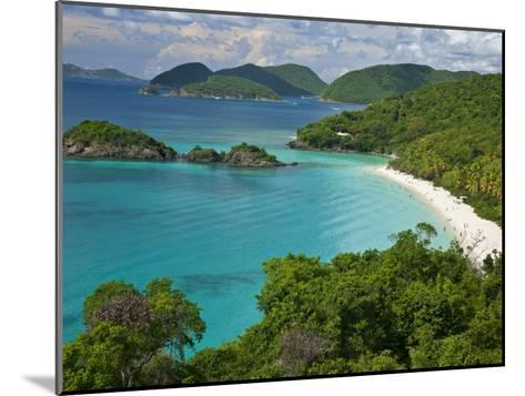 Turquoise Water at Trunk Bay, St. John, Usvi-Michael Melford-Mounted Photographic Print
