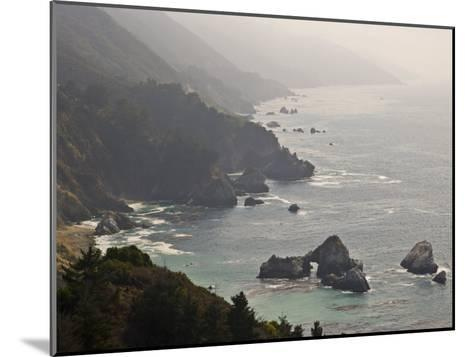 Famous View of the Coast Along Route 1 in Big Sur-Michael Melford-Mounted Photographic Print