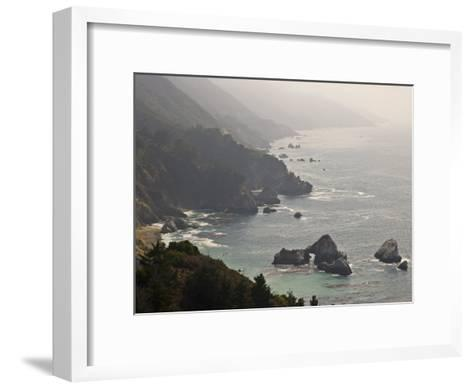 Famous View of the Coast Along Route 1 in Big Sur-Michael Melford-Framed Art Print