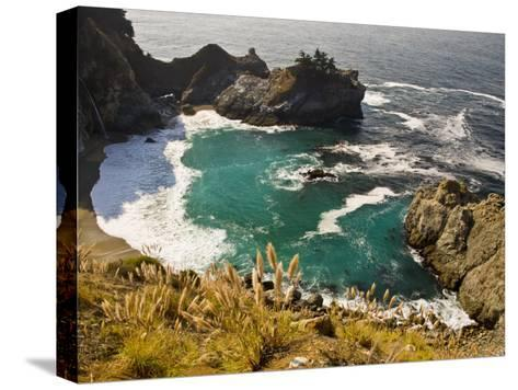 Sandy Cove Off the Coast of Route 1 in Big Sur-Michael Melford-Stretched Canvas Print