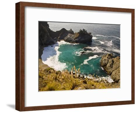 Sandy Cove Off the Coast of Route 1 in Big Sur-Michael Melford-Framed Art Print