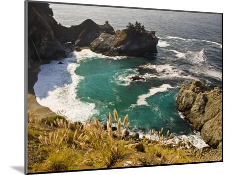Sandy Cove Off the Coast of Route 1 in Big Sur-Michael Melford-Mounted Photographic Print