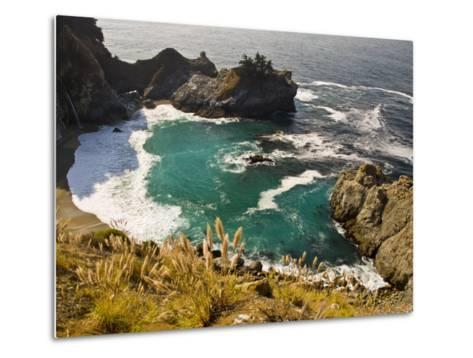 Sandy Cove Off the Coast of Route 1 in Big Sur-Michael Melford-Metal Print