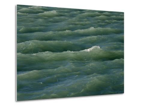 Waves Near Boca Chita Key in Biscayne National Park, Florida-Michael Melford-Metal Print