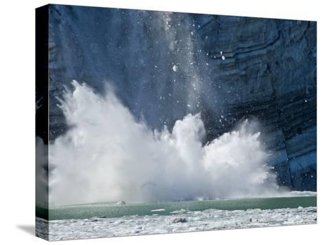 Johns Hopkins Glacier Calving at Glacier Bay National Park-Michael Melford-Stretched Canvas Print