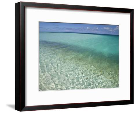 Clear Turquoise Water in the Seychelles Islands-Michael Melford-Framed Art Print