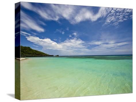 Gentle Waves Lap West Bay Beach in Roatan, Honduras-Michael Melford-Stretched Canvas Print