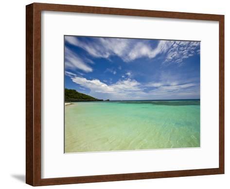 Gentle Waves Lap West Bay Beach in Roatan, Honduras-Michael Melford-Framed Art Print