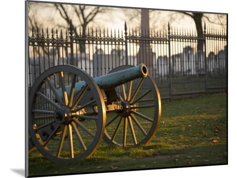 Cannon Outside the Fence at Gettysburg National Cemetery-Michael Melford-Mounted Photographic Print