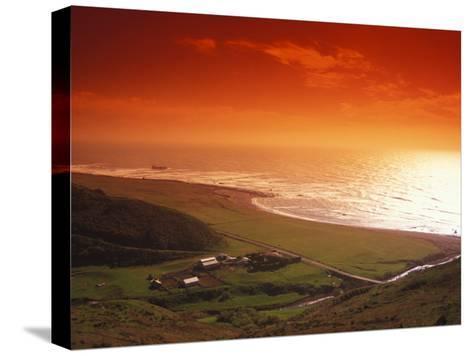 Enhanced Sunset on an Irish Coast-Nick Norman-Stretched Canvas Print