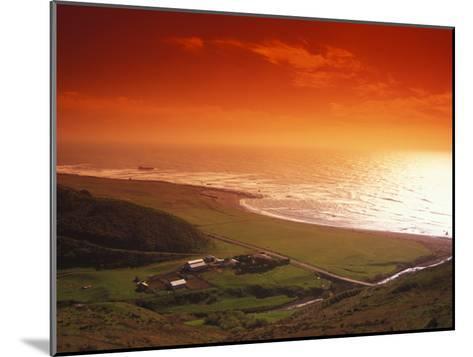 Enhanced Sunset on an Irish Coast-Nick Norman-Mounted Photographic Print