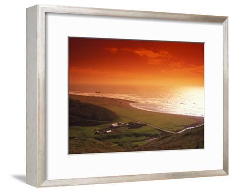 Enhanced Sunset on an Irish Coast-Nick Norman-Framed Art Print