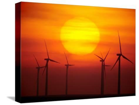 Elk River Wind Project Is a 150 Megawatt Wind Energy Project-Mark Thiessen-Stretched Canvas Print