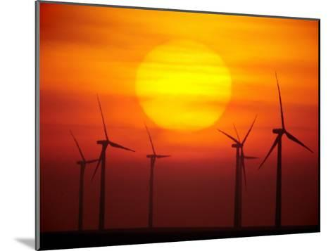 Elk River Wind Project Is a 150 Megawatt Wind Energy Project-Mark Thiessen-Mounted Photographic Print