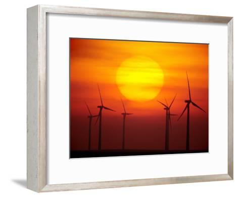 Elk River Wind Project Is a 150 Megawatt Wind Energy Project-Mark Thiessen-Framed Art Print