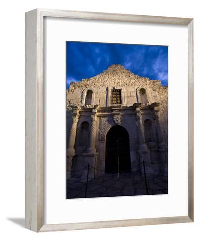Front Facade of the Alamo-Richard Nowitz-Framed Art Print