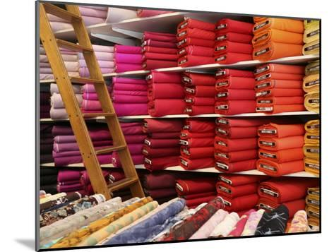 Bolts of Fabric on the First Floor of a Fabric Store on Union Square-Richard Nowitz-Mounted Photographic Print