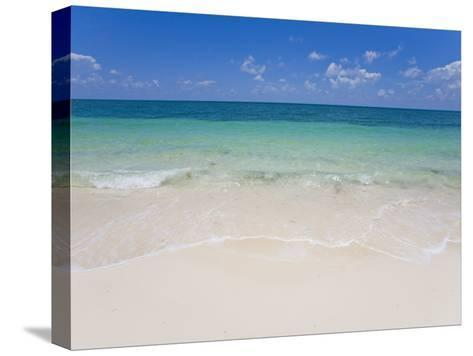 Crystal Clear Water and Blue Skies at a Beach in the Bahamas-Mike Theiss-Stretched Canvas Print