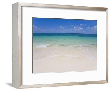 Crystal Clear Water and Blue Skies at a Beach in the Bahamas-Mike Theiss-Framed Art Print