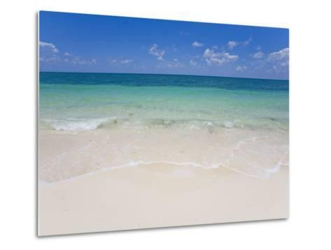 Crystal Clear Water and Blue Skies at a Beach in the Bahamas-Mike Theiss-Metal Print