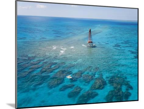 Coral Reefs Seen During Spring Low Tides at Sombrero Key Lighthouse-Mike Theiss-Mounted Photographic Print